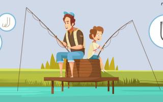 Размер рыболовного крючка